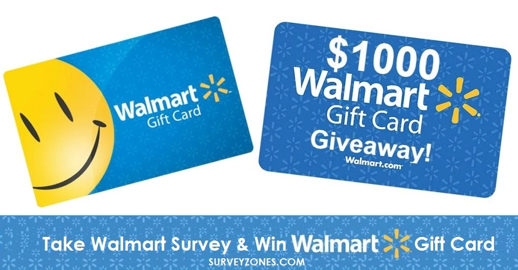 Walmart Survey, Win $1000 Walmart Gift Card