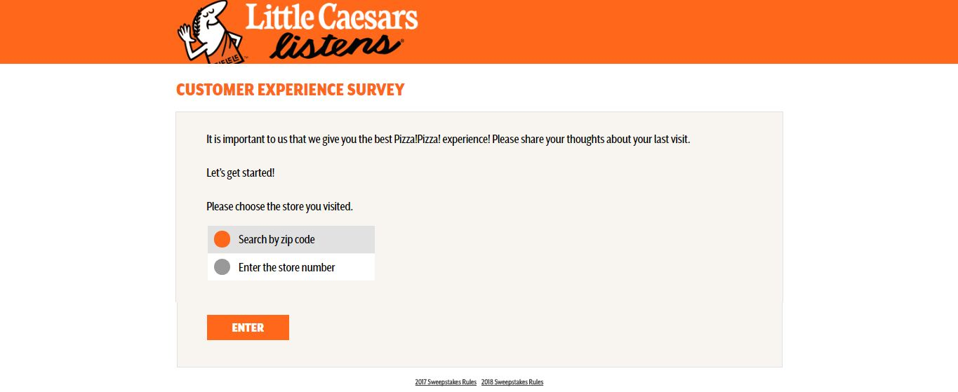 Little Caesars survey