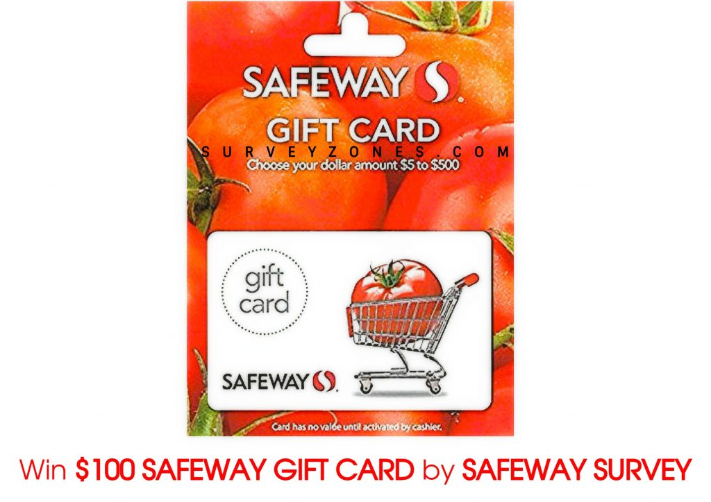 Safeway Survey Gift Card
