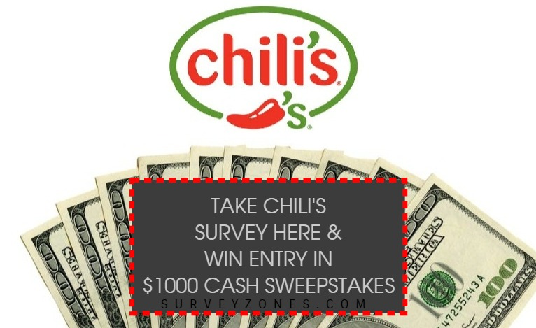 Chilis Survey Sweepstakes