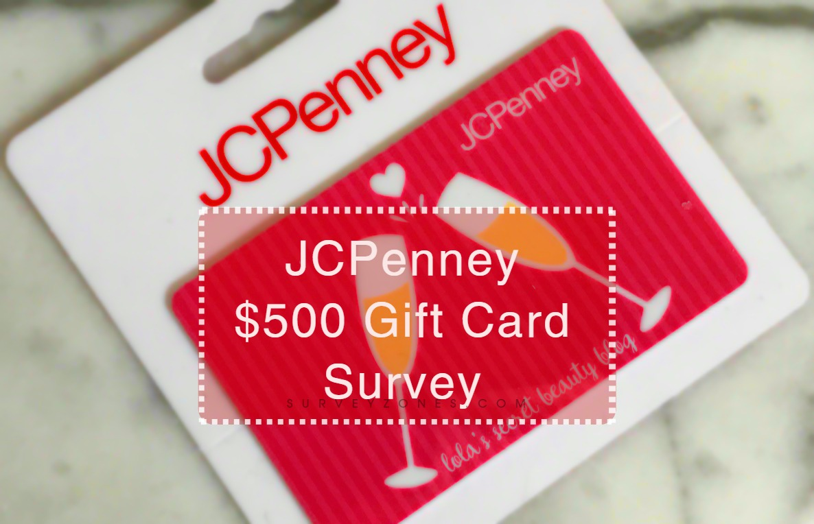 JCPenney Survey gift Card