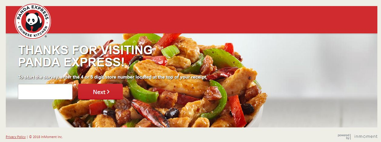 Panda Express Free Entree Survey