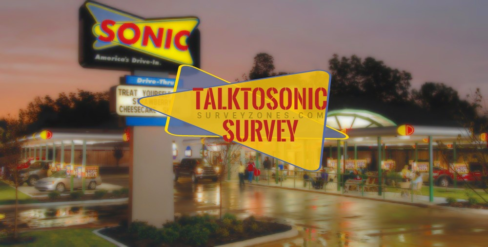 www.talktosonic.com-Sonic Drive-In Guest Satisfaction Survey