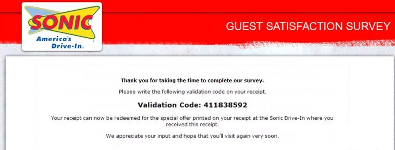 Talktosonic Survey code