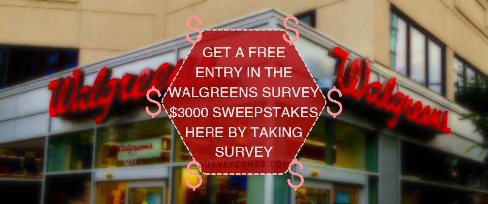 Walgreens Survey Sweepstakes