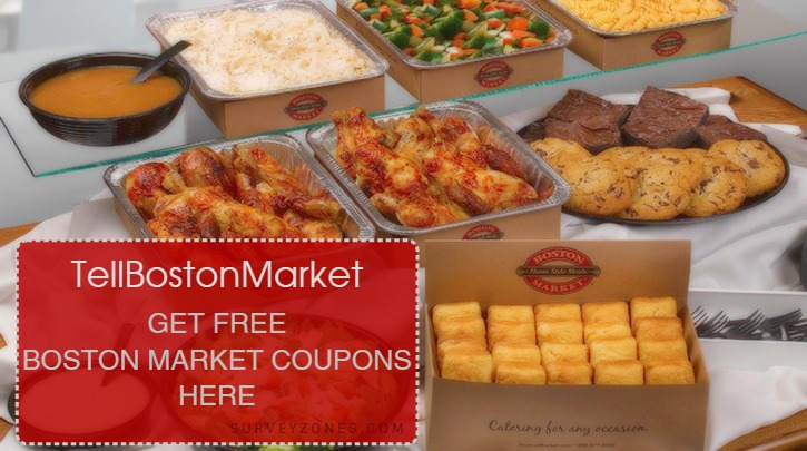 Boston Market Survey Coupons