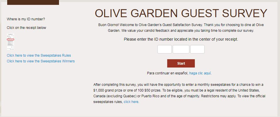 Olive Garden Sweepstakes