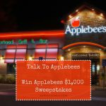 Talk to Applebees (www.talktoapplebees.com) Applebee's Survey