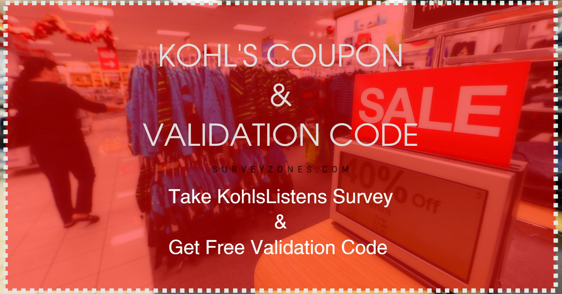 Kohls Listens Survey Free Validation Code