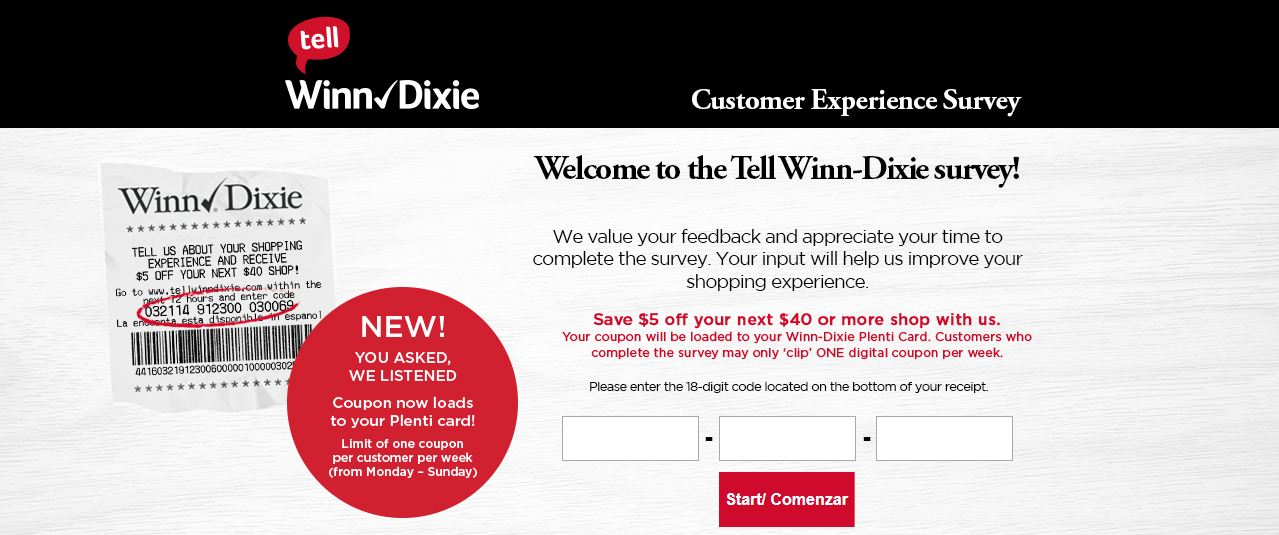 Winn Dixie Survey