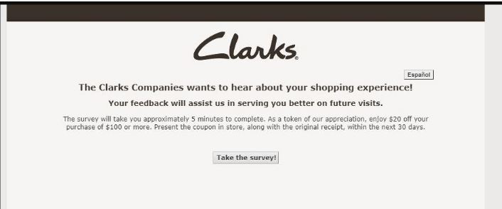 clarks customer survey