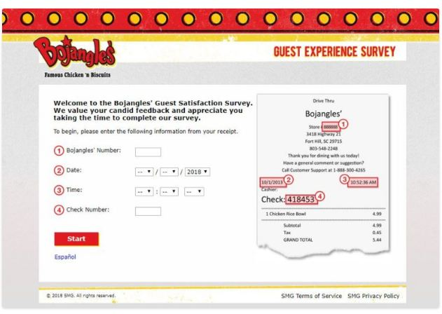 Bojangles Survey