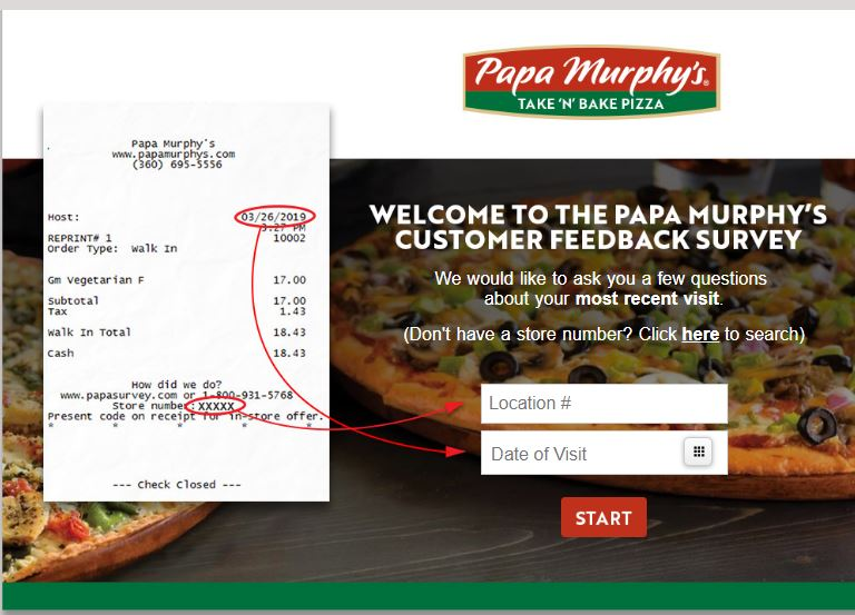 PAPA MURPHYS SURVEY