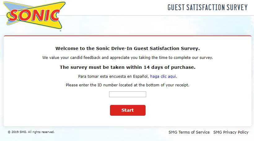 SONIC CUSTOMER SURVEY