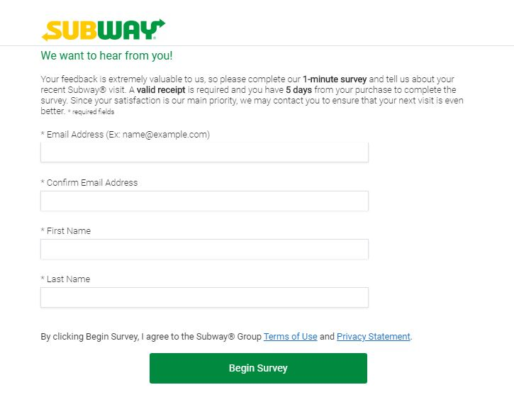 Subway SURVEY