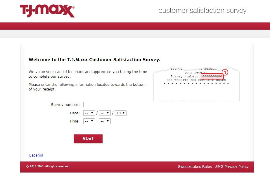 TJ Maxx Customer Survey