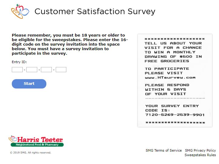 Harris Teeter Survey