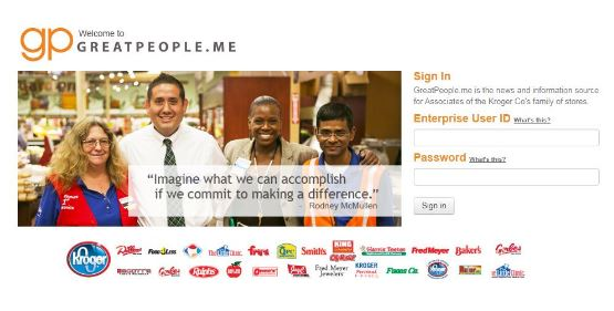 GreatPeople Meet Kroger Login